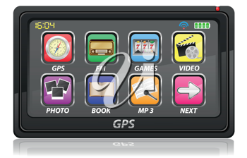 Royalty Free Clipart Image of a GPS Navigator
