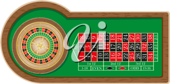 Royalty Free Clipart Image of Roulette