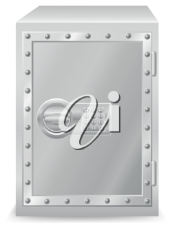 Royalty Free Clipart Image of a Safe