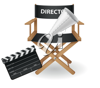 Royalty Free Clipart Image of a Director Chair