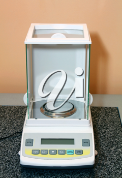 electronic scales for a laboratory