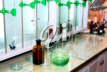 laboratory cups for realization of analyses