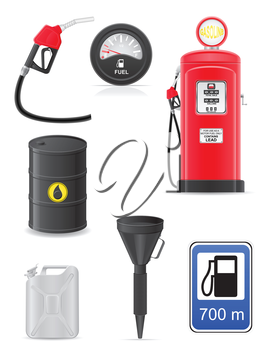 fuel set icons vector illustration isolated on white background