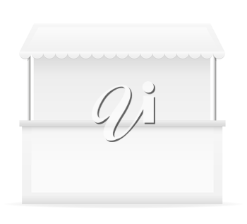 white stall vector illustration isolated on background