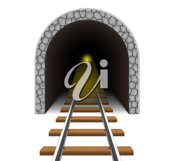 railway tunnel vector illustration isolated on white background
