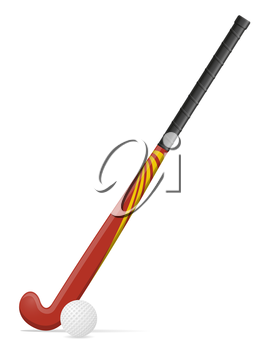 field hockey sport and ball equipment vector illustration isolated on white background