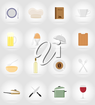 objects and equipment for the food vector illustration isolated on background