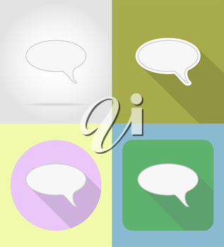 speech bubbles flat icons vector illustration isolated on background