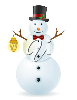 snowman vector illustration isolated on white background