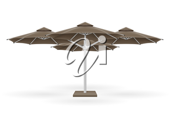 large sun umbrella for bars and cafes on the terrace or the beach vector illustration isolated on white background