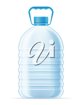plastic bottle for drinking water transparent vector illustration isolated on white background