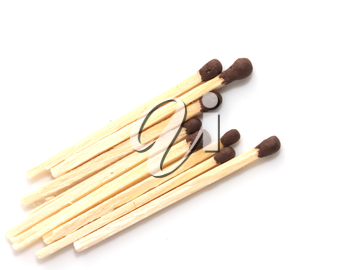 matches on a white background