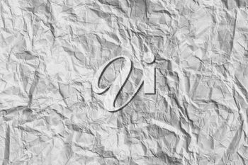 crumpled white paper as a background