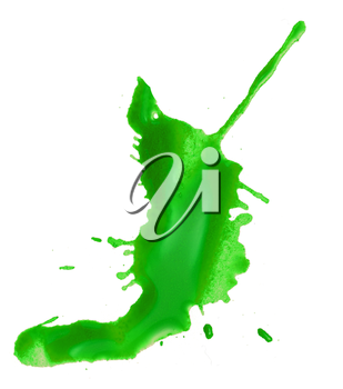 abstract green blob blot on a white background