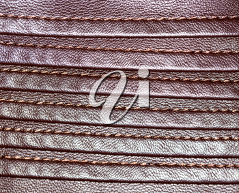 background of brown leather
