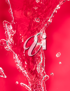 spray water on the red background