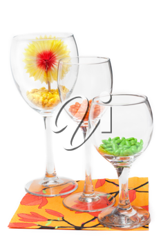 Royalty Free Photo of Candy in Wineglasses