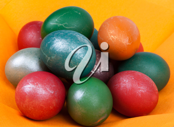 Royalty Free Photo of Dyed Easter Eggs