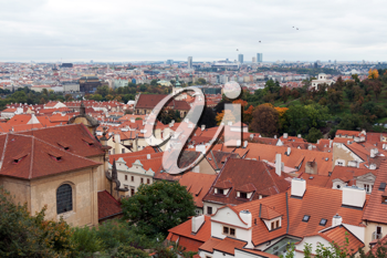 Royalty Free Photo of a Bunch of Houses in Prague