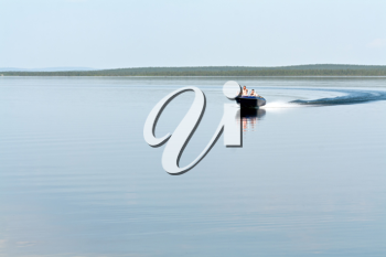 Royalty Free Photo of a Boat on the Lake