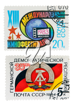 postage stamp dedicated to the cinema and Germany