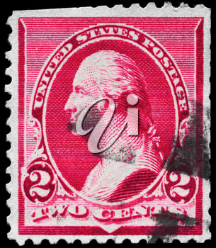 Royalty Free Photo of a Stamp From the George Washington (1732-1799) Series, Circa 1890