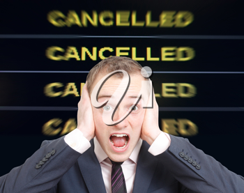 Royalty Free Photo of an Upset Businessman