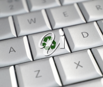 Royalty Free Photo of a Recycle Key on a Keyboard