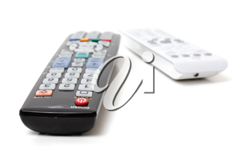 Royalty Free Photo of Television Remotes