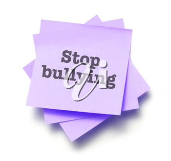 Stop bullying written on a note