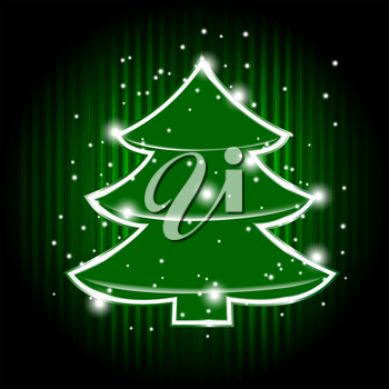 Royalty Free Clipart Image of a Christmas Tree