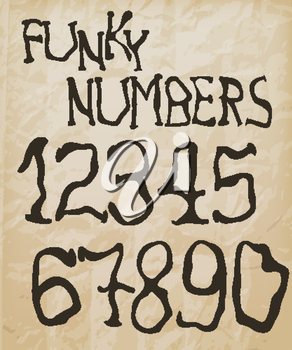 Royalty Free Clipart Image of Numbers
