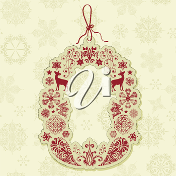 Royalty Free Clipart Image of a Christmas Tag