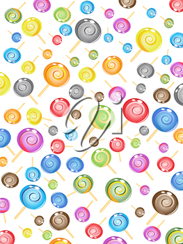 Royalty Free Clipart Image of a Candy Background