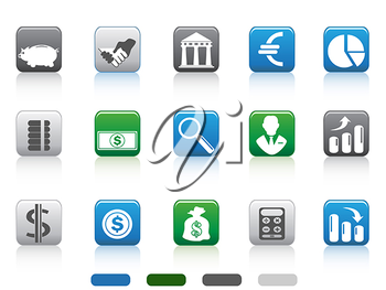 Royalty Free Clipart Image of Finance Icons