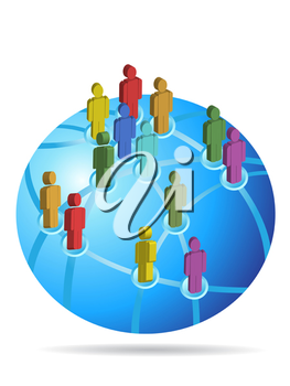 Royalty Free Clipart Image of a Global Network Concept