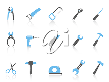 Royalty Free Clipart Image of Tool Icons