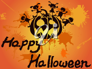 the design of happy halloween card for halloween holiday
