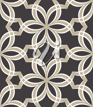 Royalty Free Clipart Image of an Abstract Floral Pattern
