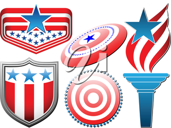 Royalty Free Clipart Image of American Elements