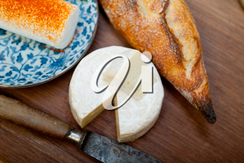 French cheese and baguette