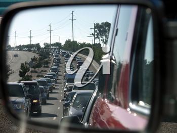 Royalty Free Photo of a Traffic Jam
