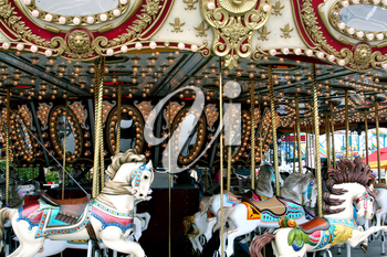 Royalty Free Photo of an Old Fashioned Merry-Go-Round