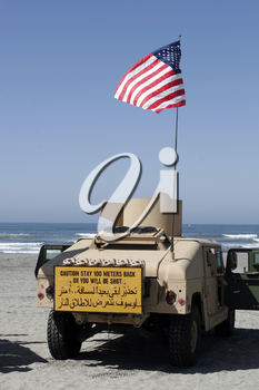 Royalty Free Photo of a Marine Vehicle On Beach