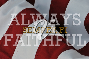 Royalty Free Photo of the United States Marine Corps Motto