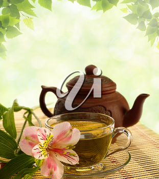 Royalty Free Photo of Tea and a Pot