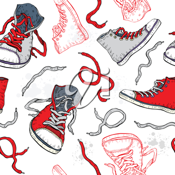 Royalty Free Clipart Image of Running Shoe Background