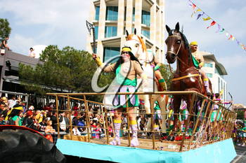 Royalty Free Photo of People in a Parade