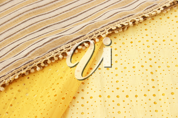 Royalty Free Photo of Yellow Scarves