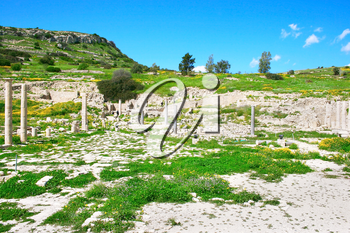Royalty Free Photo of Temple Ruins in Amathus, Cyprus